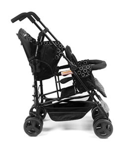 Kinderwagon Hop Tandem Umbrella Stroller - Black v2 Double Strollers